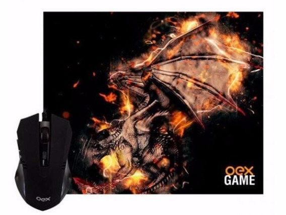 Combo Arena Gamer Oex - Mouse 2400dpi + Mousepad 290x230mm