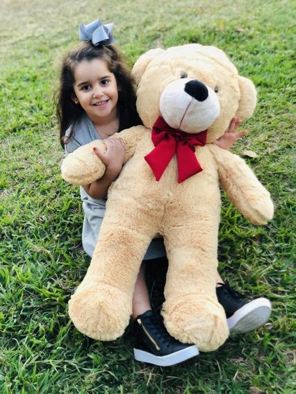 Urso Gigante 90 Cm Grande Teddy Bear Pelúcia - Nacional