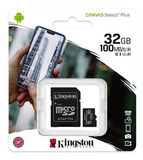 Memoria Micro Sd 32gb Kingston 100mb/s Clase 10 Original