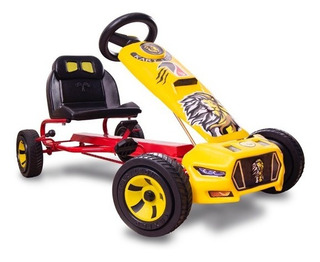 Carrito Montable De Pedales Go Kart Leon Modelo 2020 Rojo