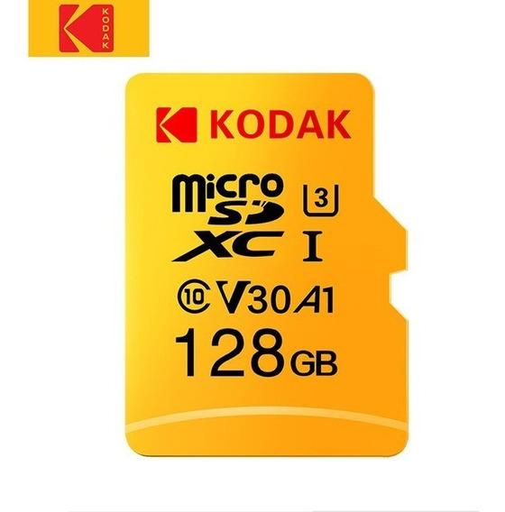 Cartão De Memória Kodak Micro Sdxc U3 V30 A1 Uhd 4k - 128gb