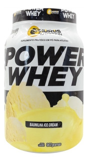 Kit 4 Whey Protein Power Suplemento 907g -baunilha Ice Cream