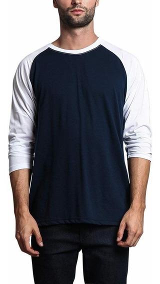 Kit 04 Camiseta Raglan 3/4 Masculina Camisa Fio 30.1 + Frete