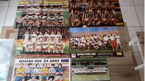 Lote Posters Placar Futebol Sao Paulo Corinthians Santos