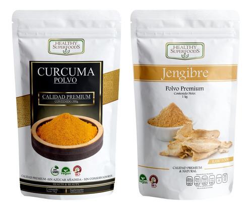 1 Kg Curcuma Y 1 Kg Jengibre Premium