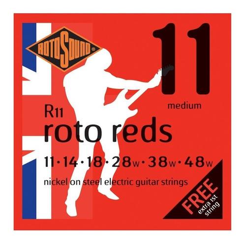Rotosound R11 Roto Reds Encordado .011 Para Eléctrica