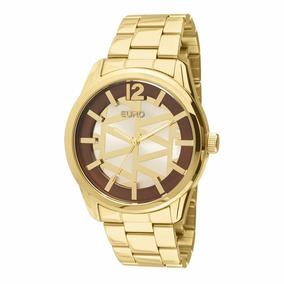 Relógio Euro Feminino Triangular Dourado - Eu2036lyb/4k