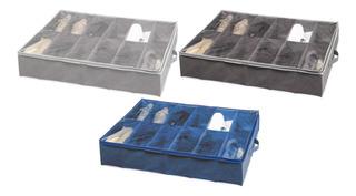 Organizador Zapatos Bajo Cama 12 Divisiones Tienda Pepino Placard Orden Organiza Calzado Porta Zapatillas