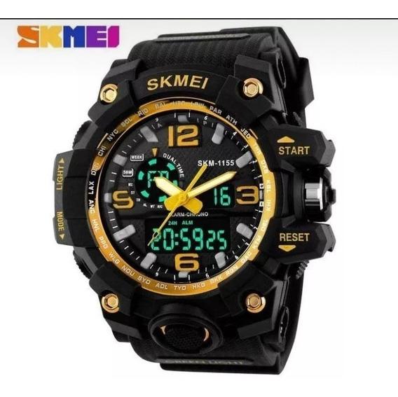 Relógio Masculino Skmei 1155 Dourado A Prova D´agua Oferta