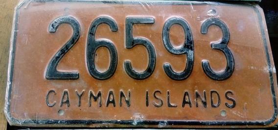 Placa Automovil Coleccion, Cayman Islands, Caribe Decorativa