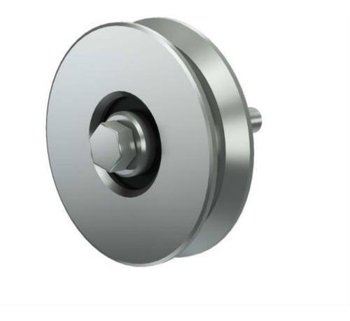 Imagen 1 de 9 de Rueda Acero Porton Corredizo 50 Mm V C/ Ruleman Gramabi