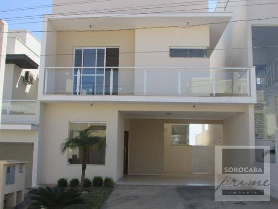 Sobrado Com 3 Dormitórios À Venda, 167 M² Por R$ 610.000 - Condomínio Villagio Milano - Sorocaba/sp, - So0019