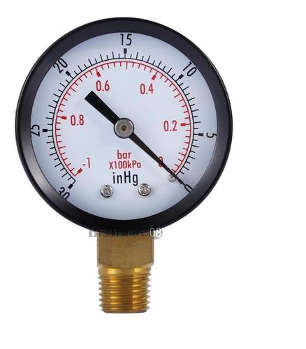 Imagen 1 de 5 de 2  Manómetro De Vacío-30 Hg/0 Psi Seco Utilidad Negro Acero
