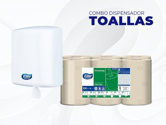 Combo Dispensador Para Toalla De Mano ( Dispensador+toallas)
