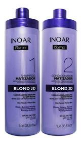 Kit Shampoo Condicionador Matizador Blond 3d Oxyfree Inoar