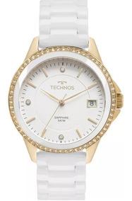 Relógio Technos Feminino Ceramic 2315kzs/4b Pulseira Brinde