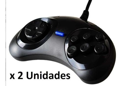 Gamepad Joystick Sega Usb  X 2 Unidades Pc Raspberry