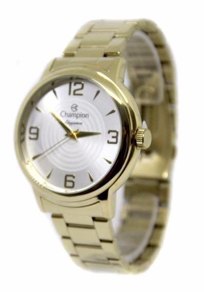 Relógio Feminino Champion Dourado Cn26126h Fretegratis