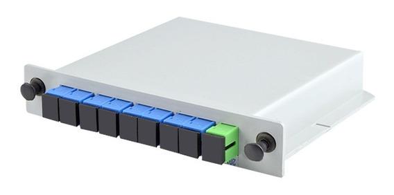 10 Splitter Box Óptico Modular Plc 1x8 Conectorizado Sc Upc