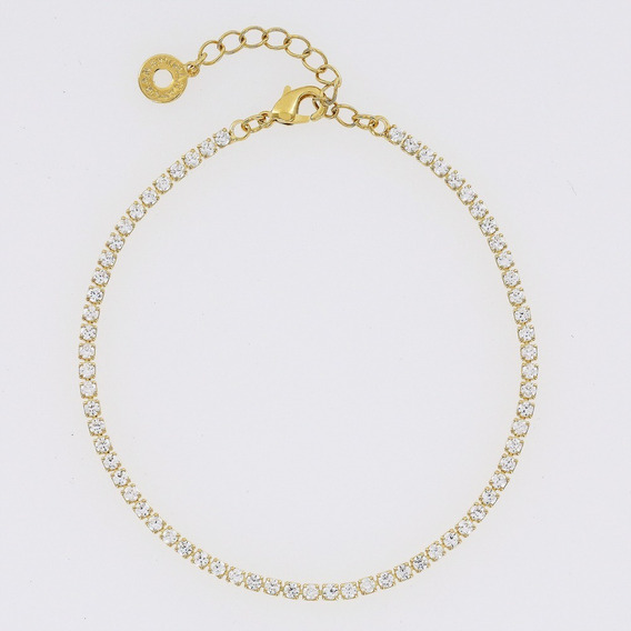 Morana | Pulseira Dourada Com Zircônias Banho Em Ouro
