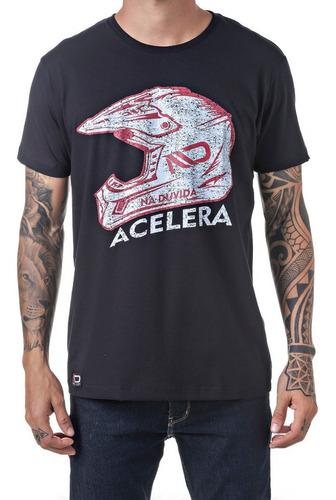 Imagem 1 de 3 de Camiseta Masculino Nd Acelera Capacete Moto Trilha Offroad