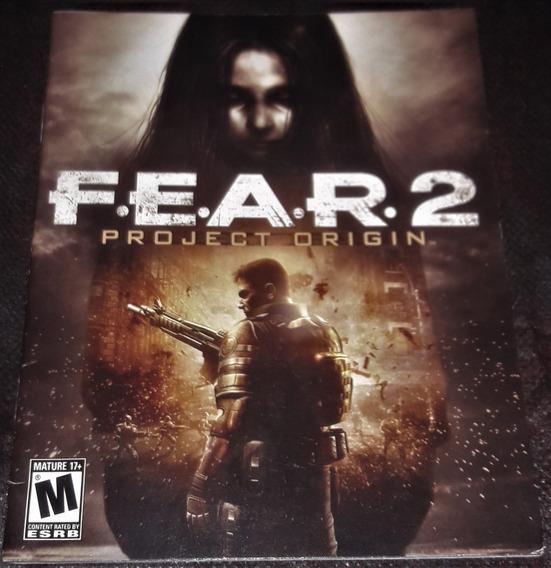 Manual Fear 2 Project Origin - Ps3 (somente O Manual)