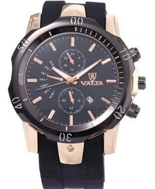 Valia - Fashion Men Quartz Watch - Black