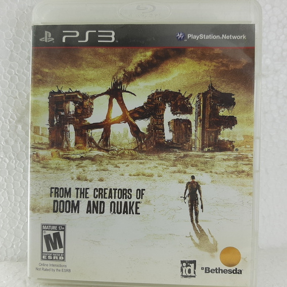 Rage Ps3 Jogo Original Mídia Física Rage Playstation 3 Sony