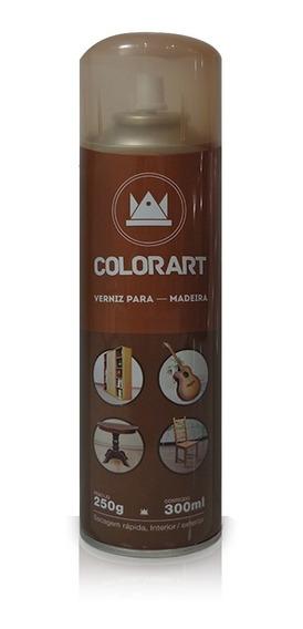 Tinta Spray Verniz Brilhante Para Madeira Colorart 300 Ml
