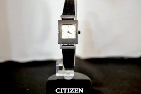 Relógio Feminino Citizen Original Ecodrive Analogico Couro