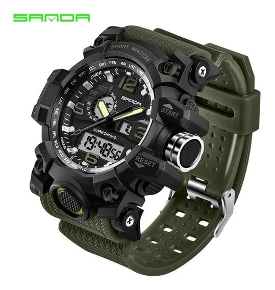 Relógio Esportivo Militar Grande S-shock Mod 742