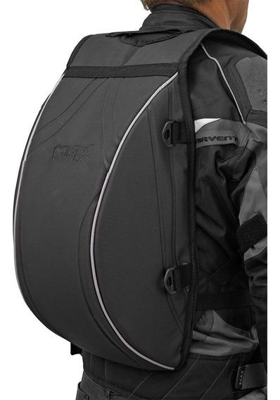 Mochila Motoqueiro Com Porta Capacete Max Turtle Black M