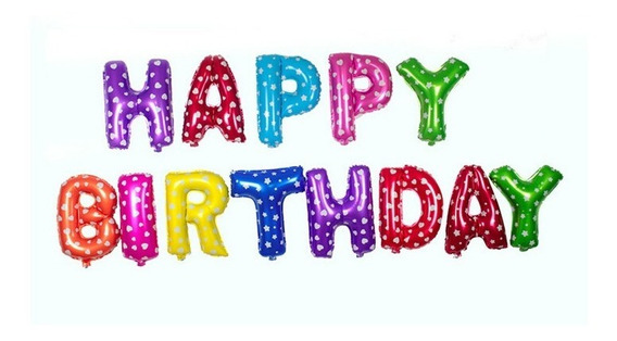 Globos Metalizados Happy Birthday 41cm Combo 13 Letras