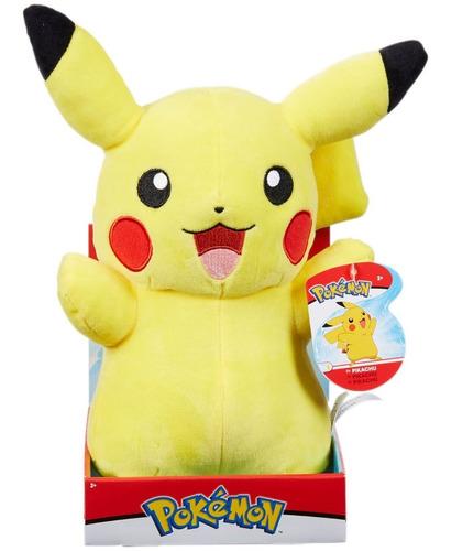 Imagem 1 de 3 de Pelúcia Pokémon Pikachu Com Luz E Som 30 Cm - Wct Sunny
