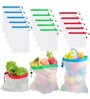 12 Bolsas Ecologicas Para Verduras