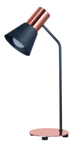 Lámpara Escritorio Con Pantalla Embudo / Color Negro-cobre