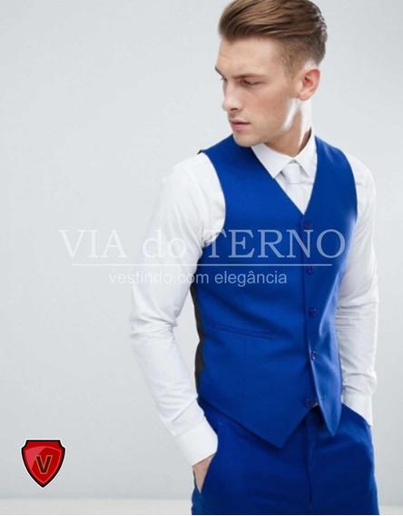 Colete Social Masculino Azul Royal + Barato + Qualidade