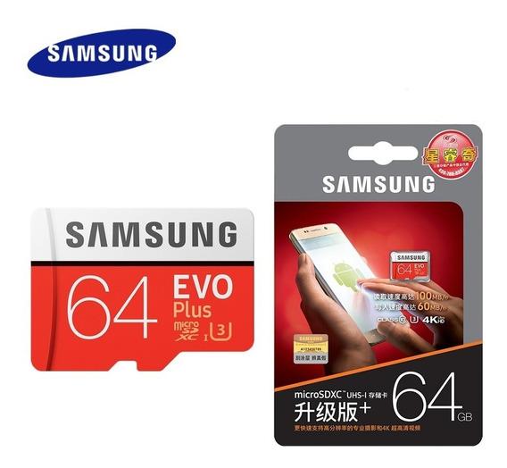 Cartão Micro Sd Samsung Evo Plus 64gb Com 4k Para Smartfone
