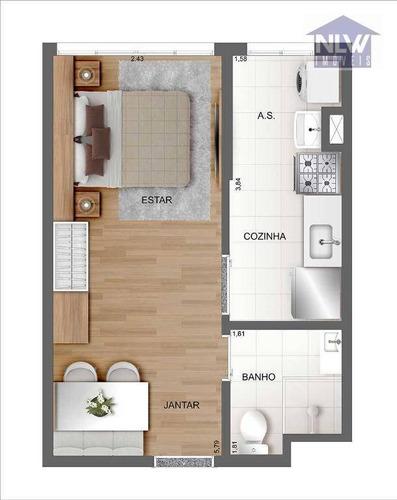 Studio Com 1 Dormitório À Venda, 26 M² Por R$ 181.418,00 - Brás - São Paulo/sp - St0148