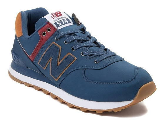 Tenis New Balance 574 Modelo. 401689 Azul Marino Hombre / H