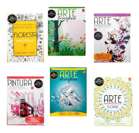 6 Revistas Colorir Anti-estresse Adulto...