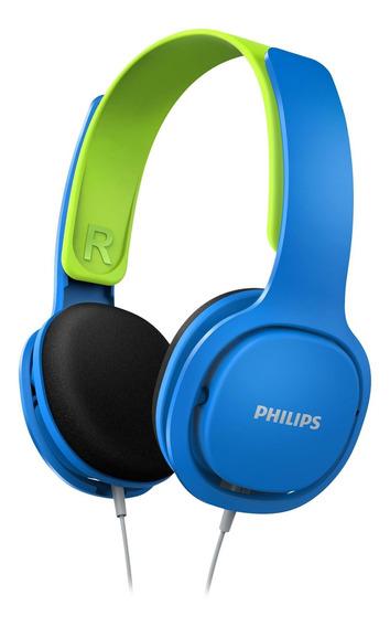 Fone De Ouvido Infantil Shk2000bl/00 Azul/verde Philips