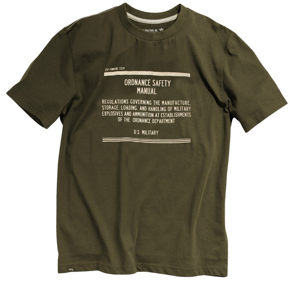 Remera Alpha Industries Safety Manual Importada