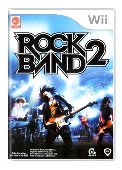 Rock Band 2 Wii Mídia Física Pronta Entrega