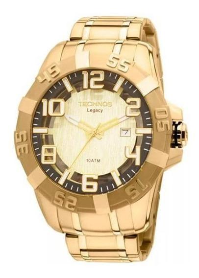 Relógio Masculino Technos Legacy 2315aba 4d 51mm Dourado