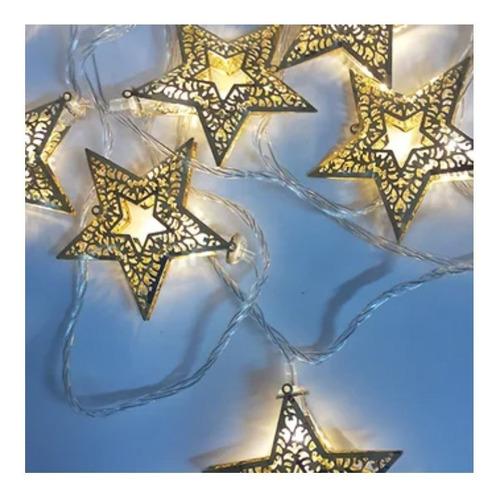 Extensión Luces Navidad Estrellas Metal 180cm Led