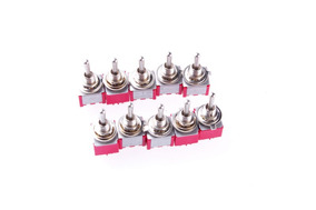 10pcs Mini Ac 250v/2a 120v/5a Alternar Interruptor Dpdt...