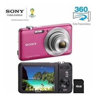 Câmera Sony Cyber-shot W710 Rosa 16.1mp + Memory Card 4gb