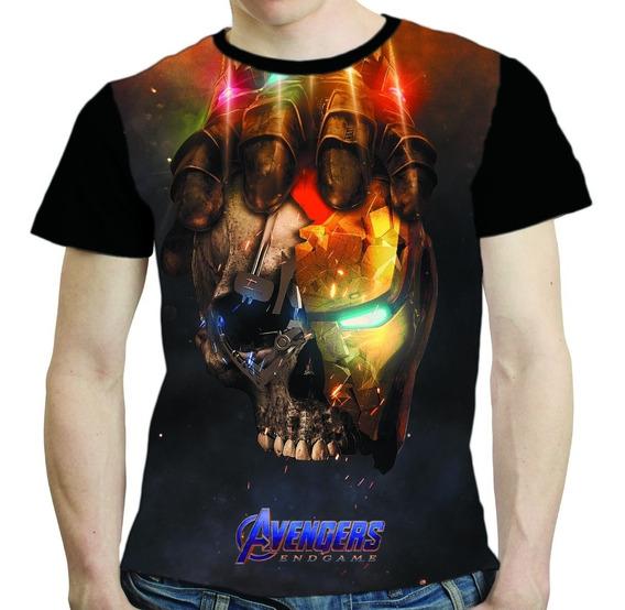Camisa Avengers Camiseta Iron Man Vingadores Endgame Thanos