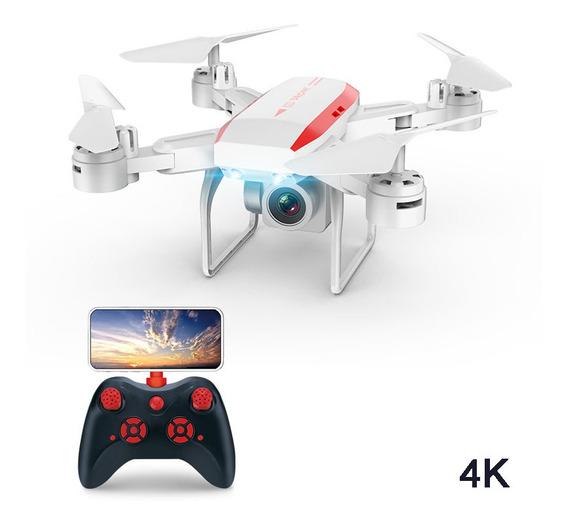 Drone Ky606d Hd Dobrável Zangão Rc Quadcopter 4k Branco